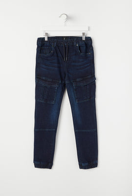 Youth Dark Wash Denim Jogger