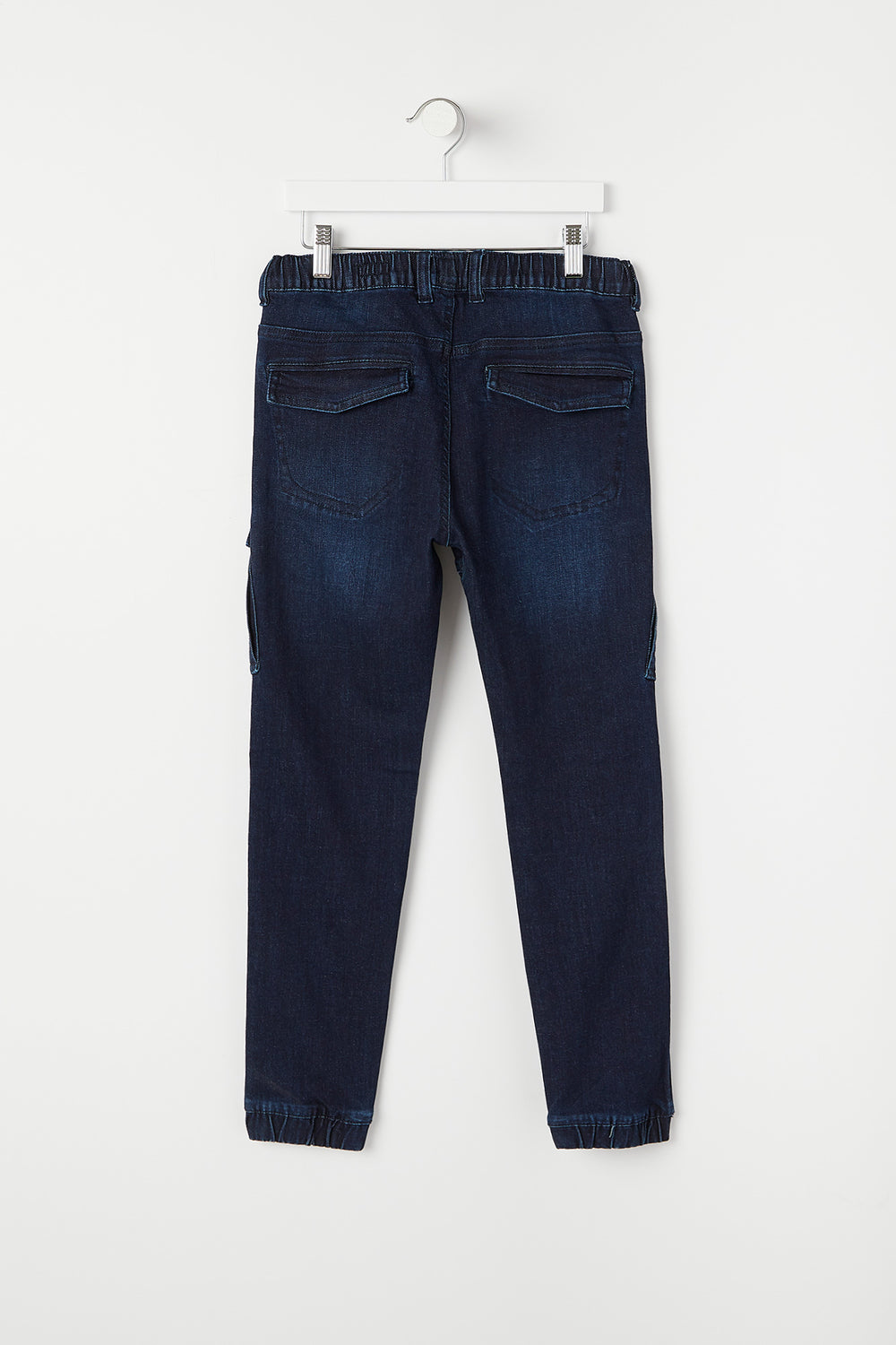 Youth Dark Wash Denim Jogger Dark Blue