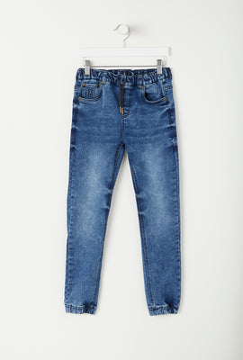 Jogger Junior en Denim Délavé
