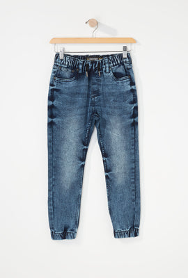 Zoo York Boys 5-Pocket Acid Wash Jogger Jean