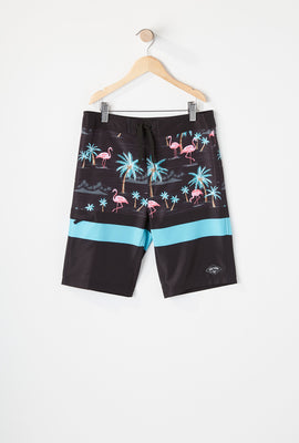 Short de Surf Avec Motif Flamants Roses Zoo York Garçon