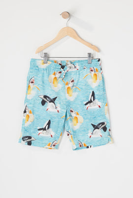 Amnesia Boys Banana Shark Beach Short