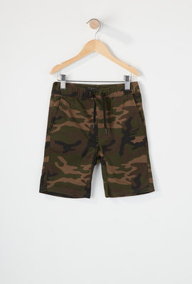 West49 Boys Camo Jogger Short