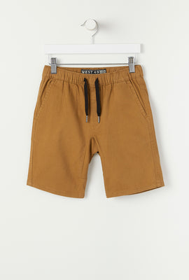 West49 Youth Solid Twill Jogger Short