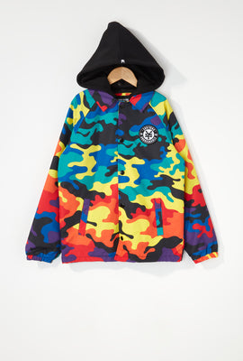 Zoo York Boys Rainbow Camo Hooded Jacket