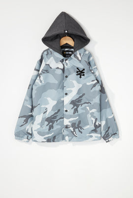 Zoo York Boys Hooded Coach Jacket