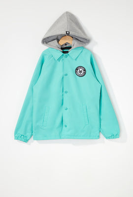 Zoo York Boys Patch Logo Coach Jacket