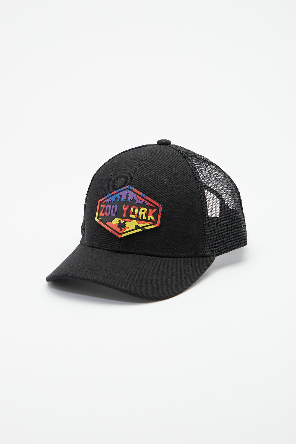 Zoo York Youth Rainbow Camo Logo Trucker Hat Black