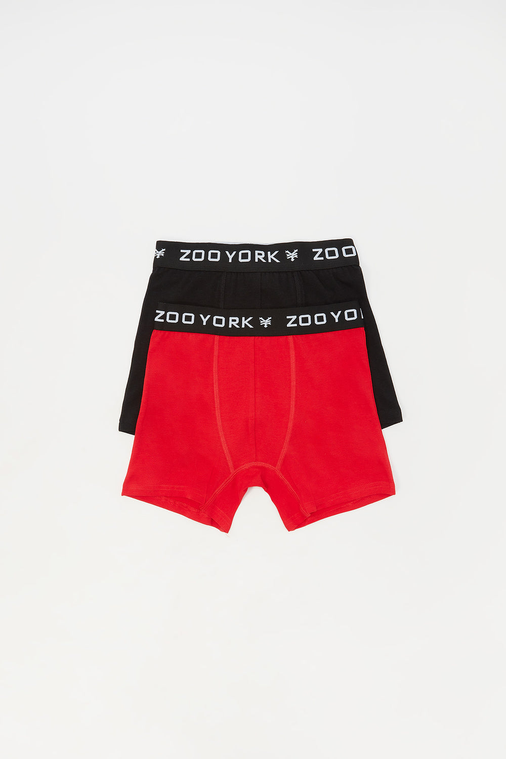 2 Paires de Boxer En Coton Zoo York Junior Rouge