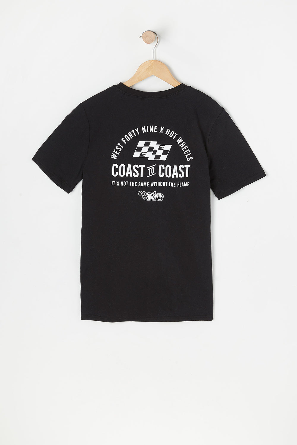 T-Shirt Coast to Coast Hot Wheels X West49 Junior Noir