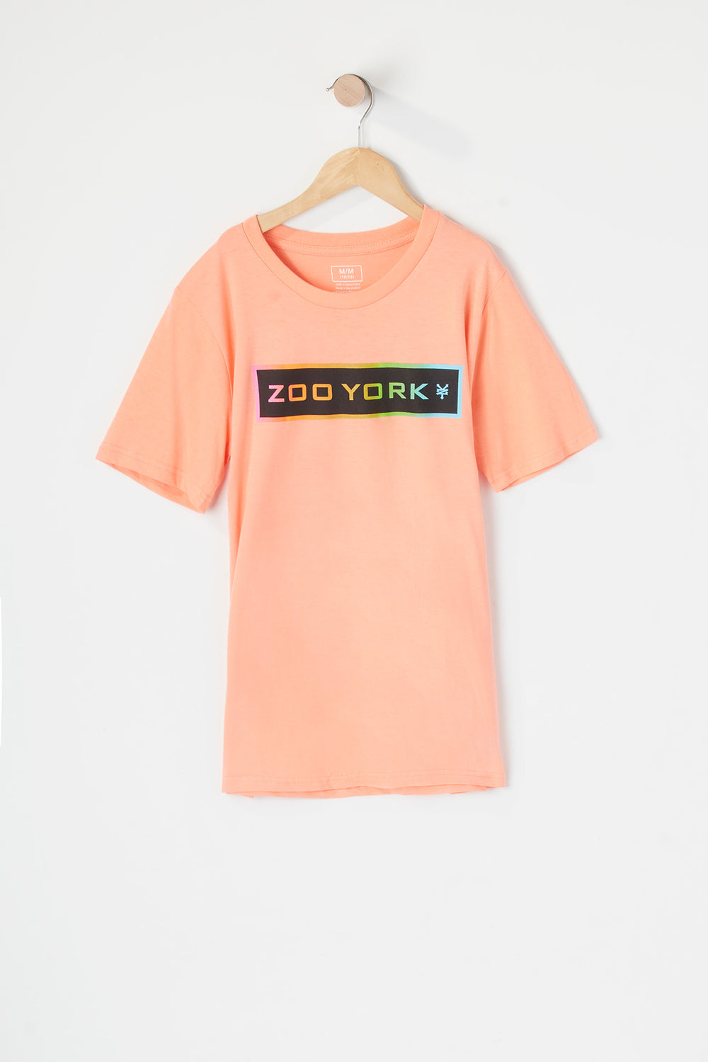 Zoo York Youth Gradient Logo T-Shirt Coral