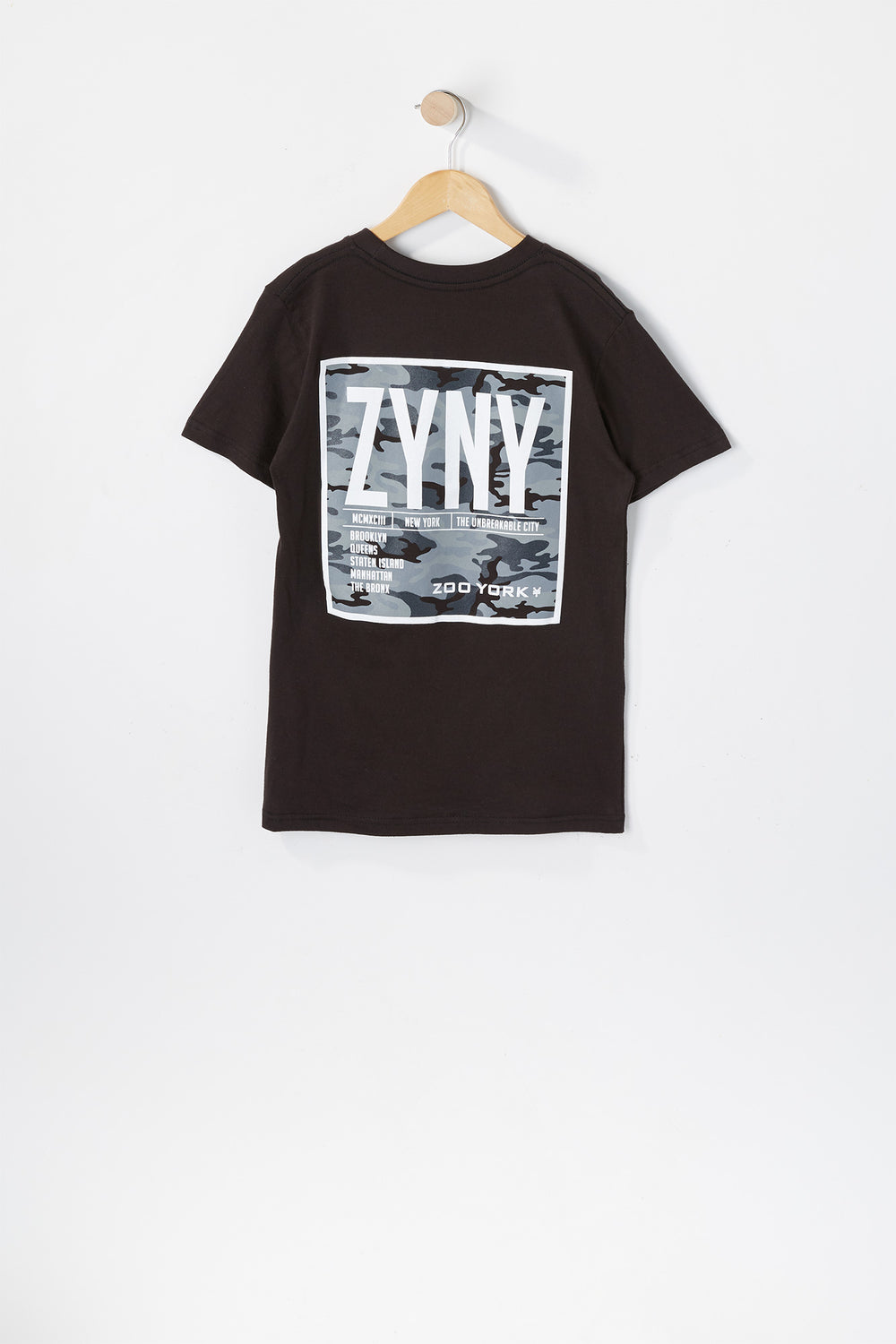 T-Shirt Logo Camouflage Zoo York Junior Noir