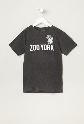 T-Shirt Logo Flamants Zoo York Junior