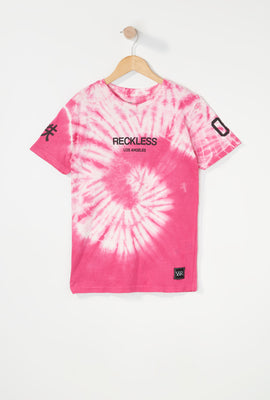T-Shirt Tie-Dye Logo Young & Reckless Garçon