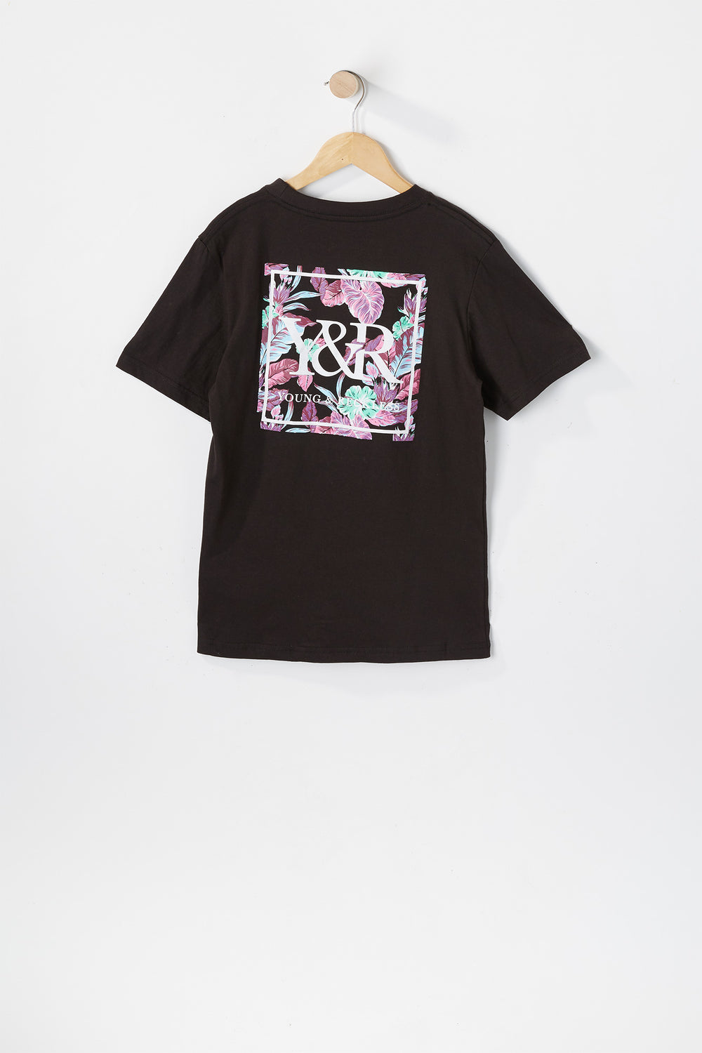 T-Shirt Floral Fluo Young & Reckless Junior Noir