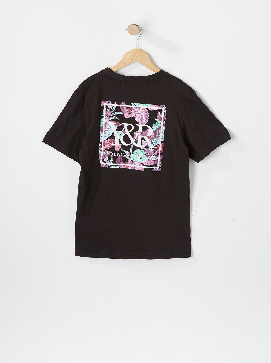 Young & Reckless Youth Neon Leaves T-Shirt Black