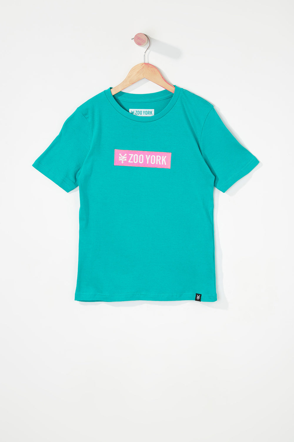 Zoo York Boys Patch Logo T-Shirt Turquoise