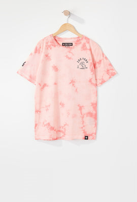 T-Shirt Tie-Dye Flamant Rose Zoo York Garçon