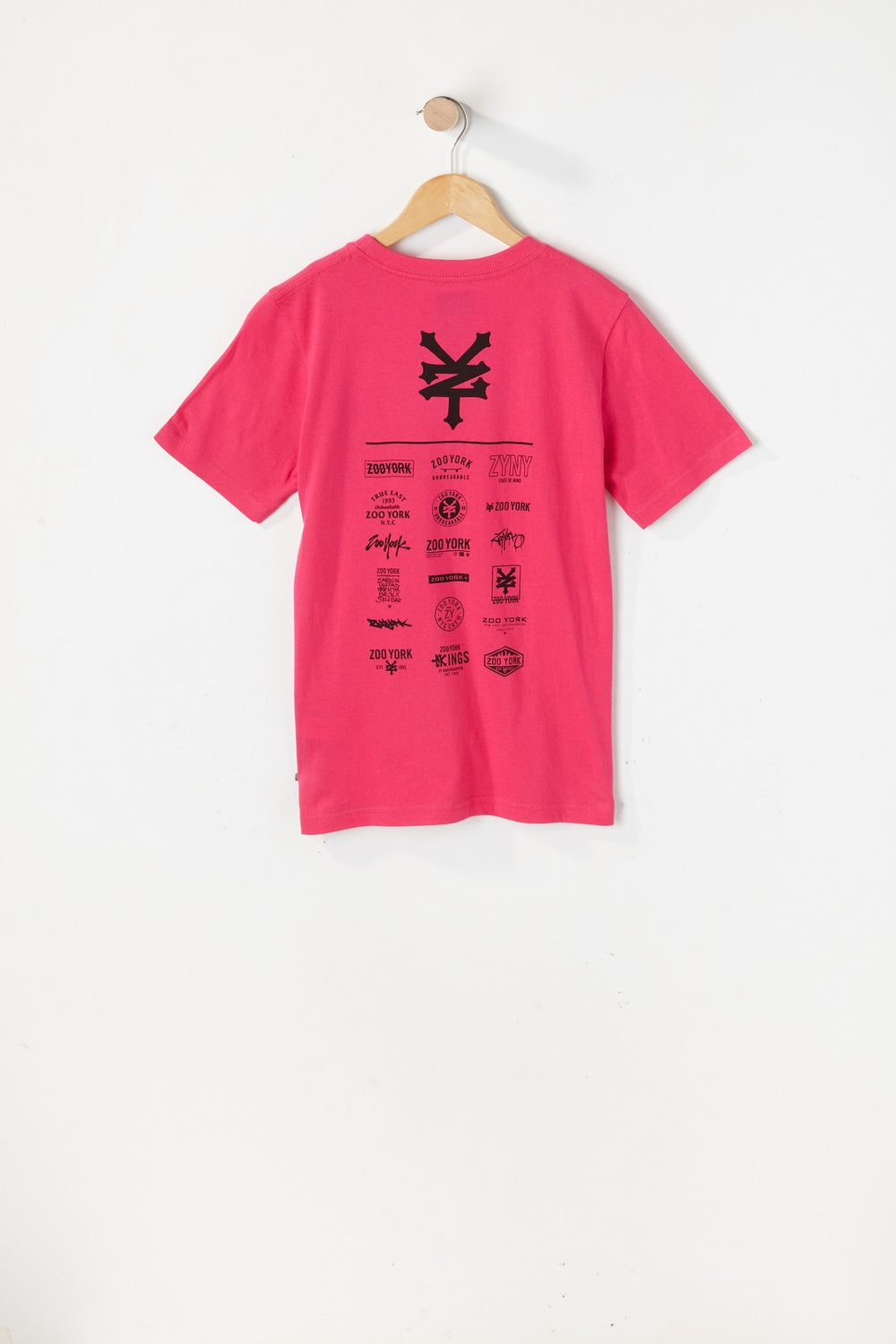 T-Shirt Logos Variés Zoo York Junior Magenta