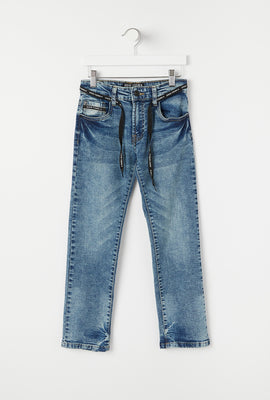 Jeans Clairs Coupe Etroite d'Aspect Usé Zoo York Junior