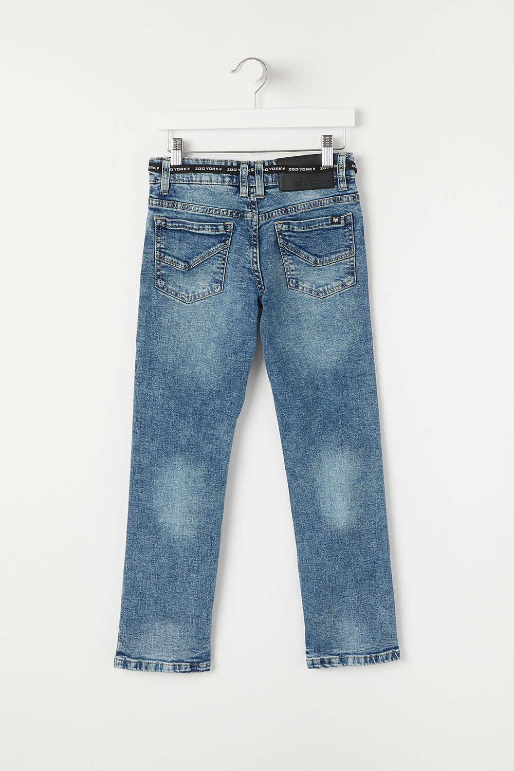 Jeans Clairs Coupe Etroite d'Aspect Usé Zoo York Junior Bleu pale