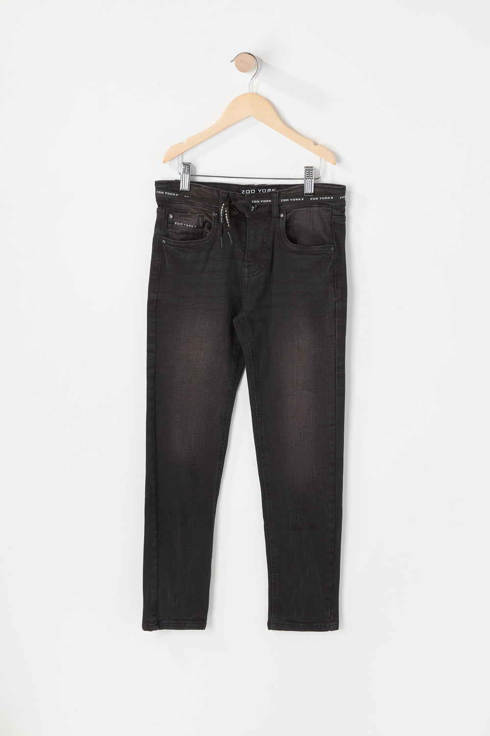 Zoo York Youth Skinny Black Jean Pure Black