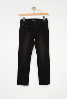 Zoo York Boys Distressed Black Stretch Skinny Jeans
