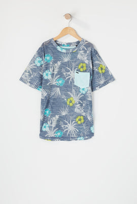 Burnside Boys Printed Pocket T-Shirt