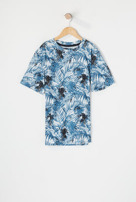 Burnside Boys Leaf Printed T-Shirt
