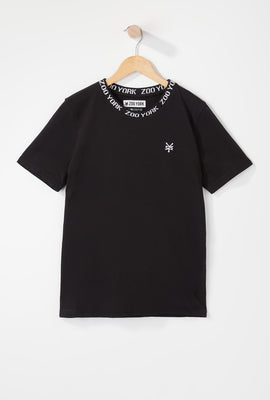 Zoo York Boys Jacquard Neck T-Shirt