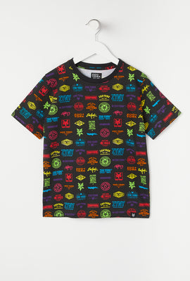 Zoo York Youth Mixed Logos Print T-Shirt