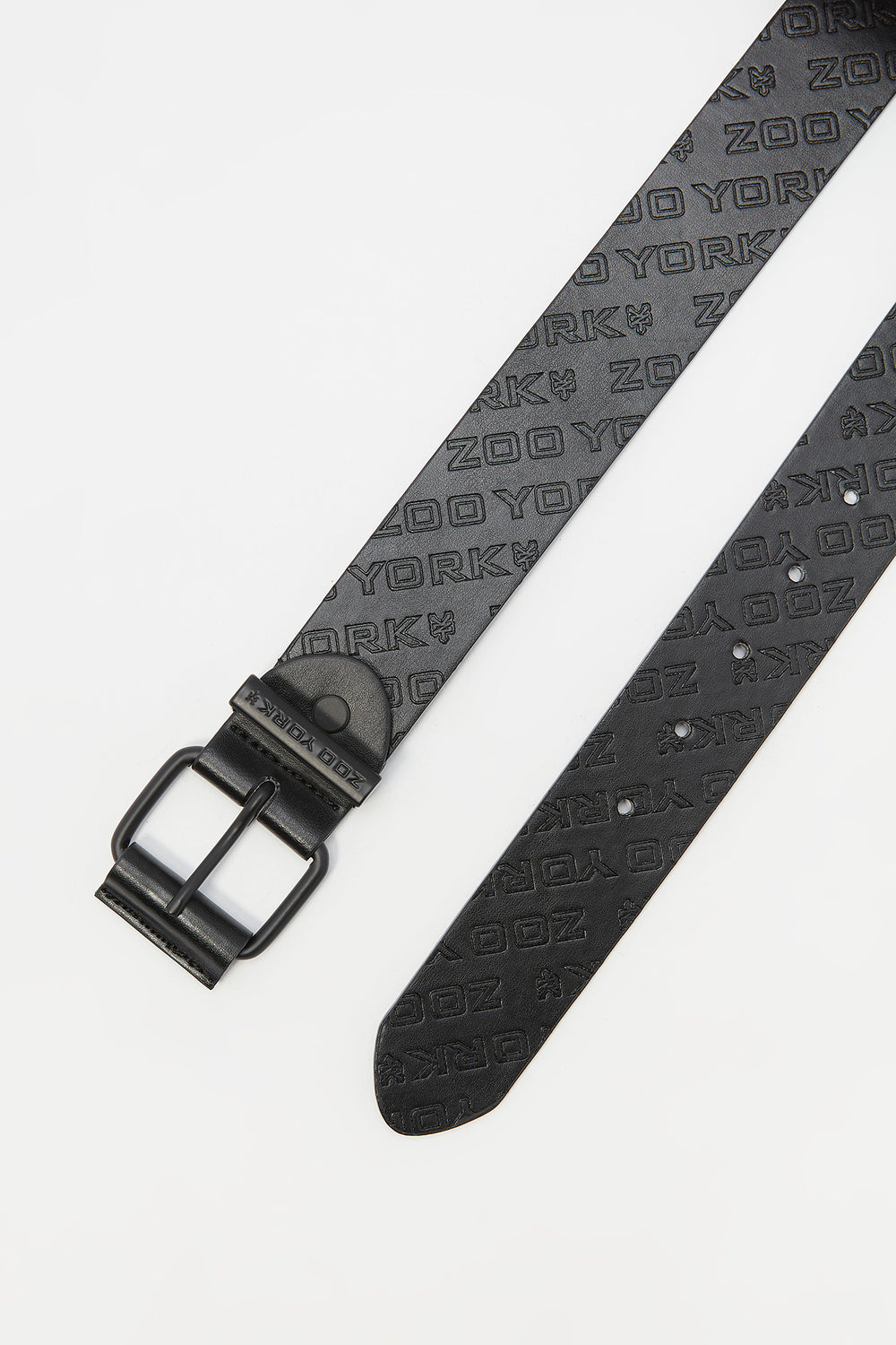 Zoo York Youth Faux Leather Belt Black