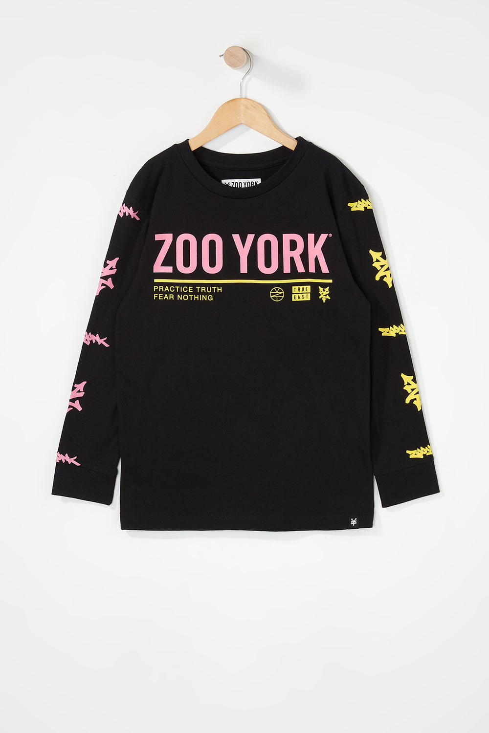 Zoo York Boys Practice Truth Long Sleeve Shirt Black