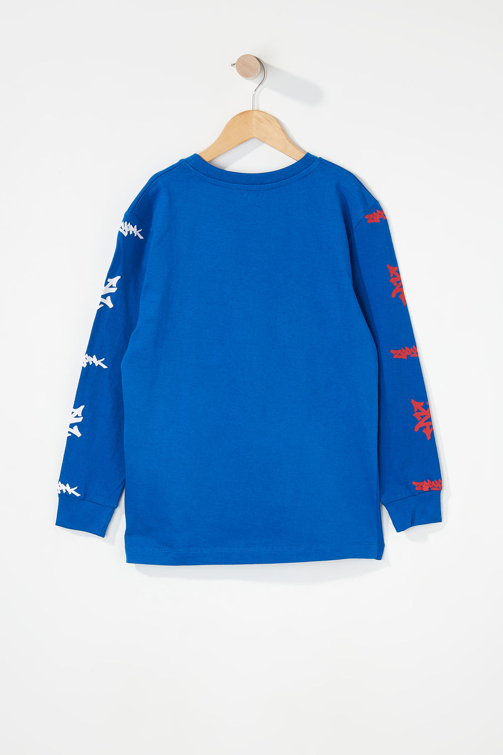 Zoo York Boys Practice Truth Long Sleeve Shirt Blue