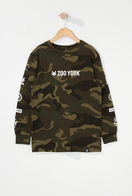 Zoo York Boys Camo Long Sleeve Shirt