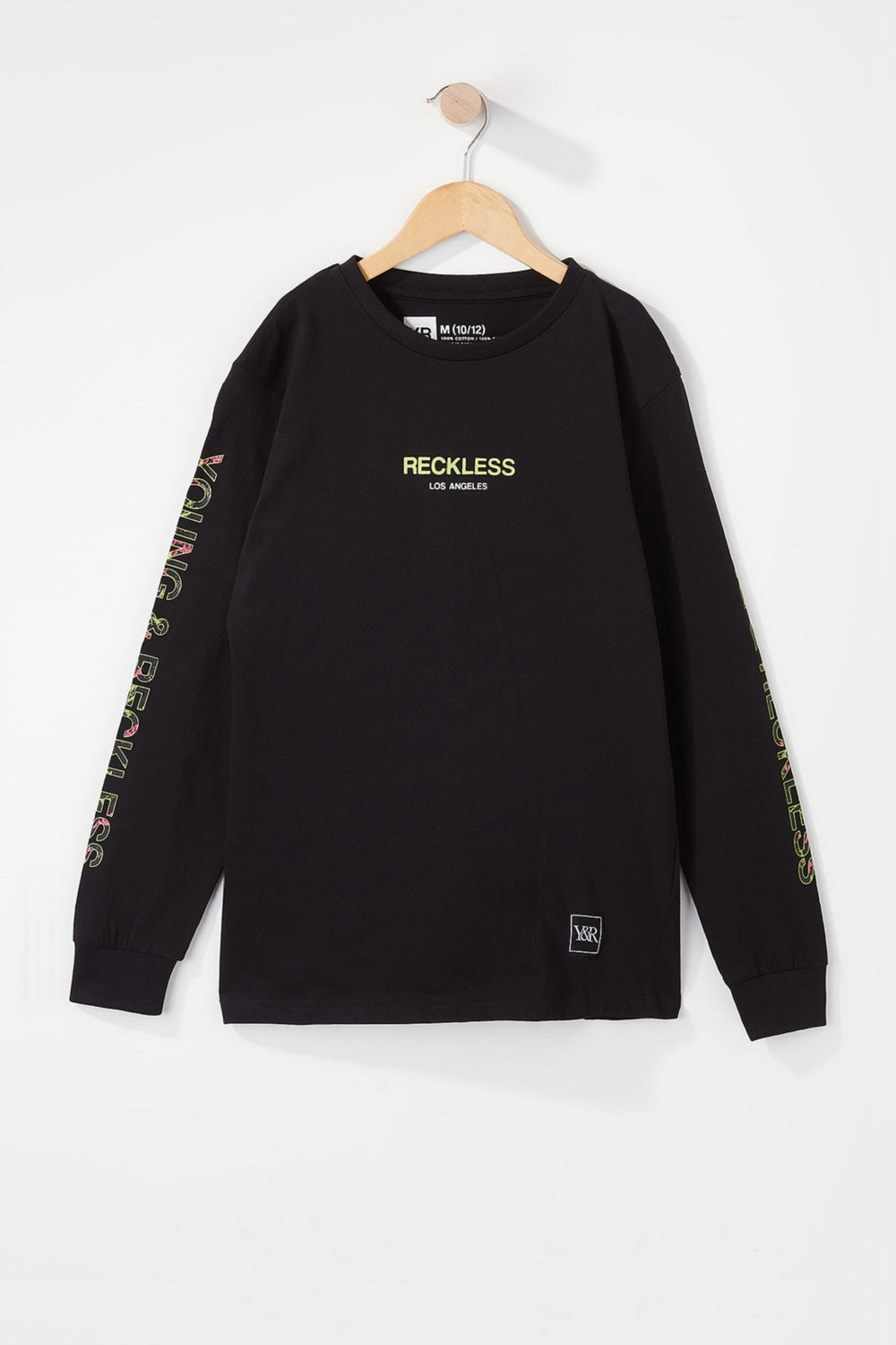 Young & Reckless Boys Electric Floral Long Sleeve Black