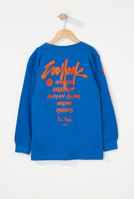 Zoo York Boys NYC Boroughs Long Sleeve Shirt