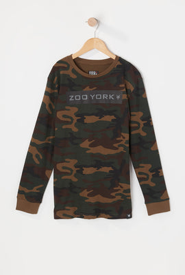 Zoo York Youth Camo Long Sleeve Top