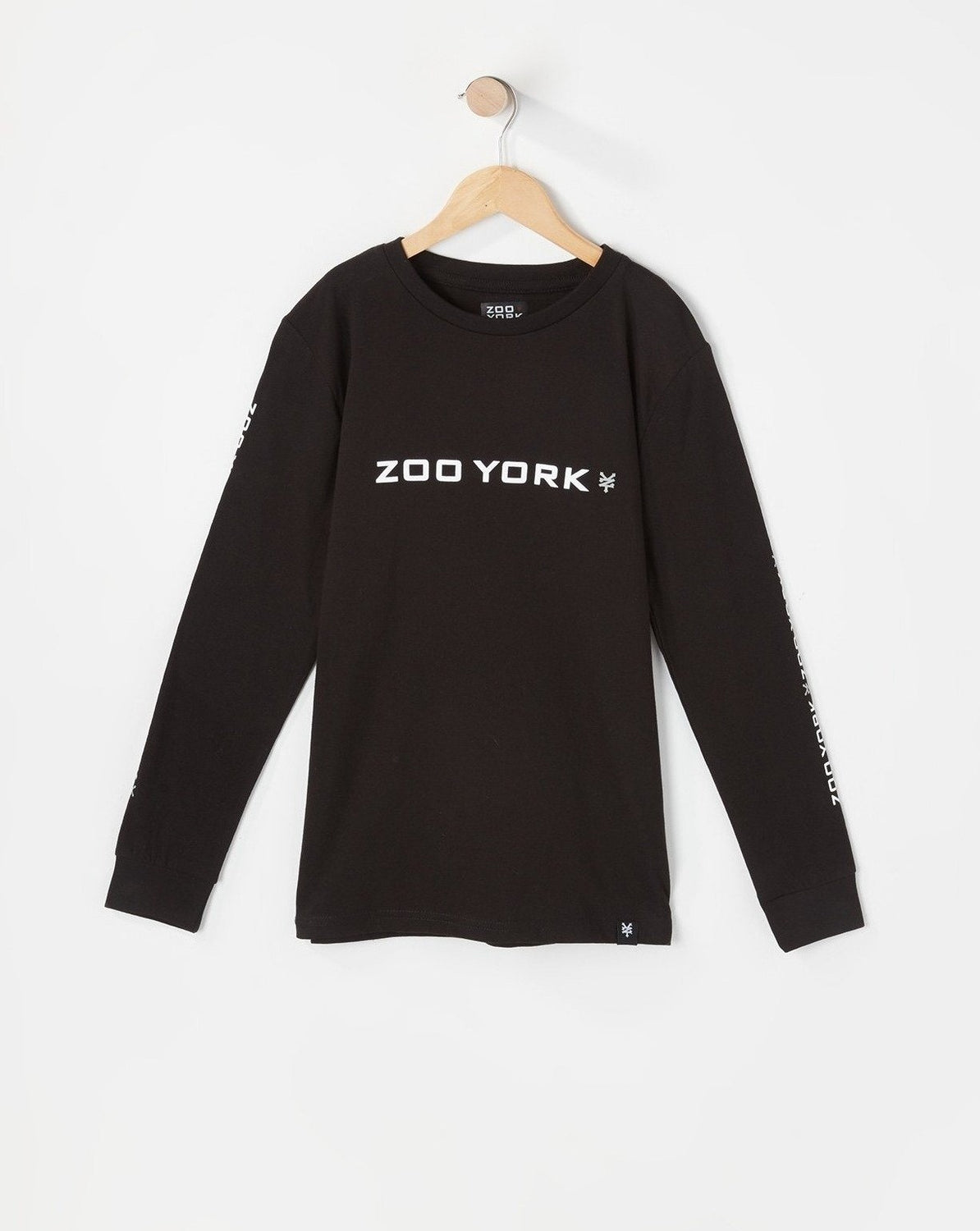 Zoo York Youth Box Logo Long Sleeve Black