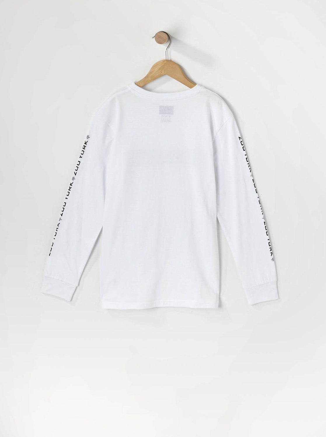 Zoo York Youth Box Logo Long Sleeve White
