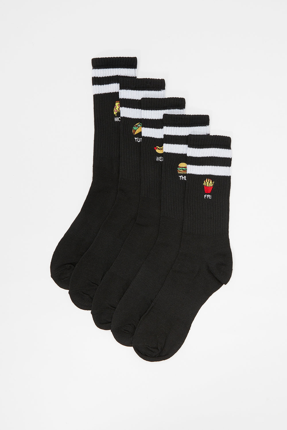 5 Paires de Chaussettes Fast Food West49 Junior Noir
