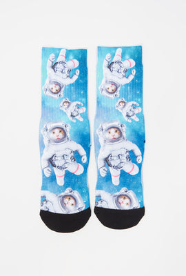 Zoo York Youth Space Cat Crew Socks