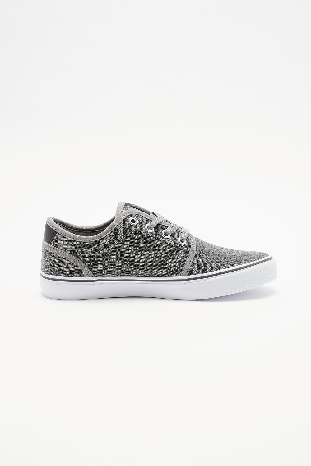 Zoo York Boys Lace-Up Canvas Skate Shoes Heather Grey