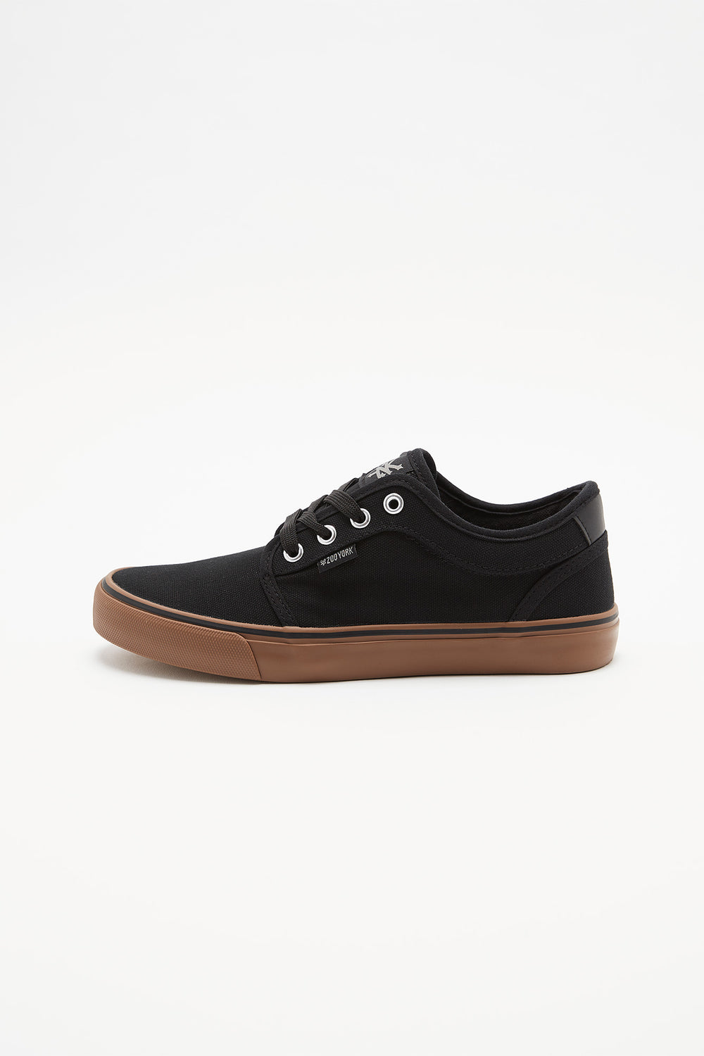 Zoo York Boys Lace-Up Canvas Skate Shoes Pure Black
