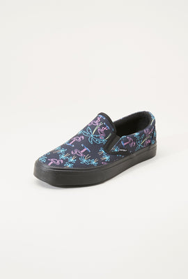 Chaussures En Toile Flamants Roses Sans Lacets Zoo York Junior