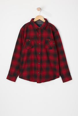 West49 Youth Hooded Flannel Shirt