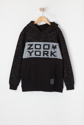 Zoo York Youth Reflective Colour Block Hoodie