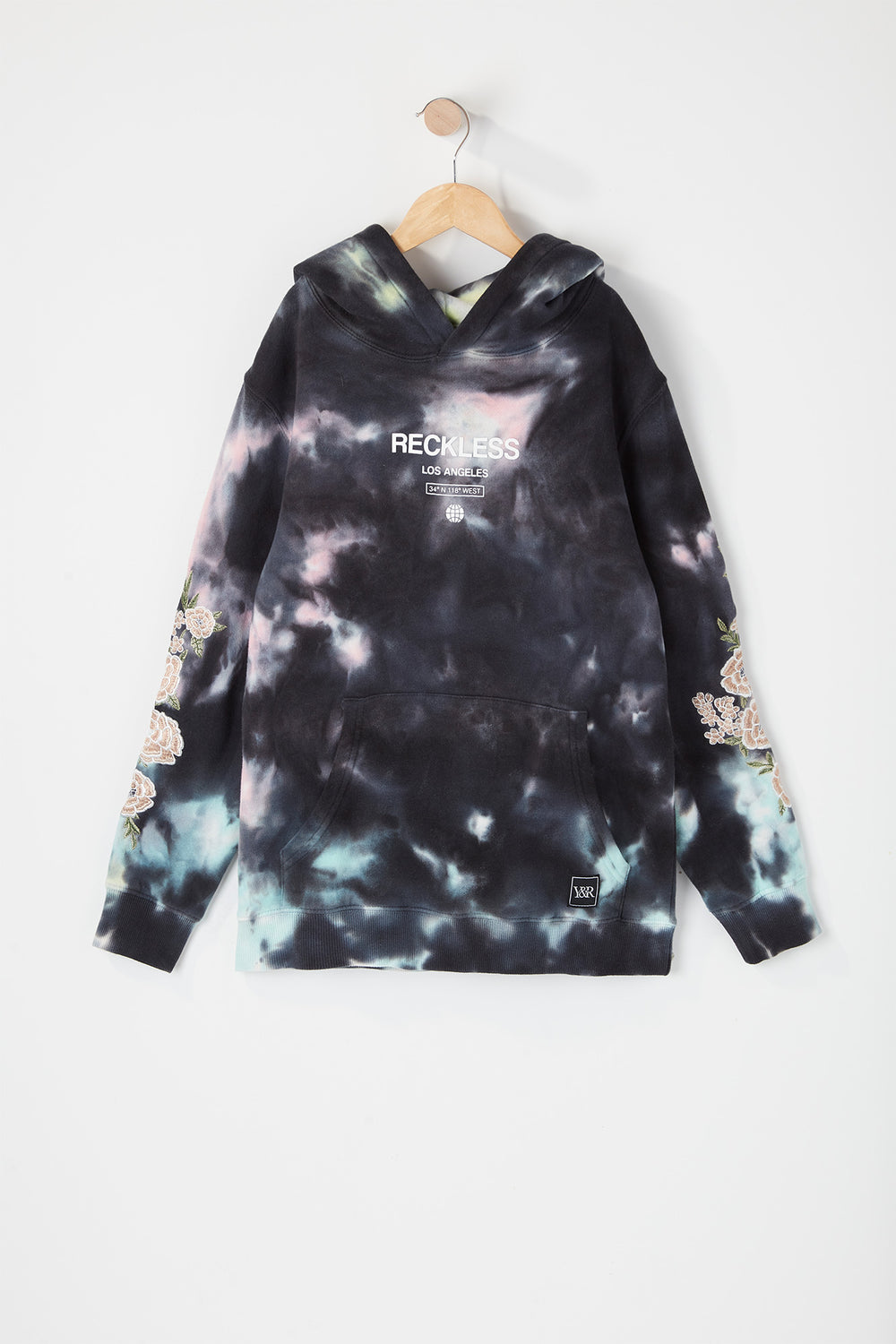 Young & Reckless Youth World Tour Tie-Dye Hoodie Black