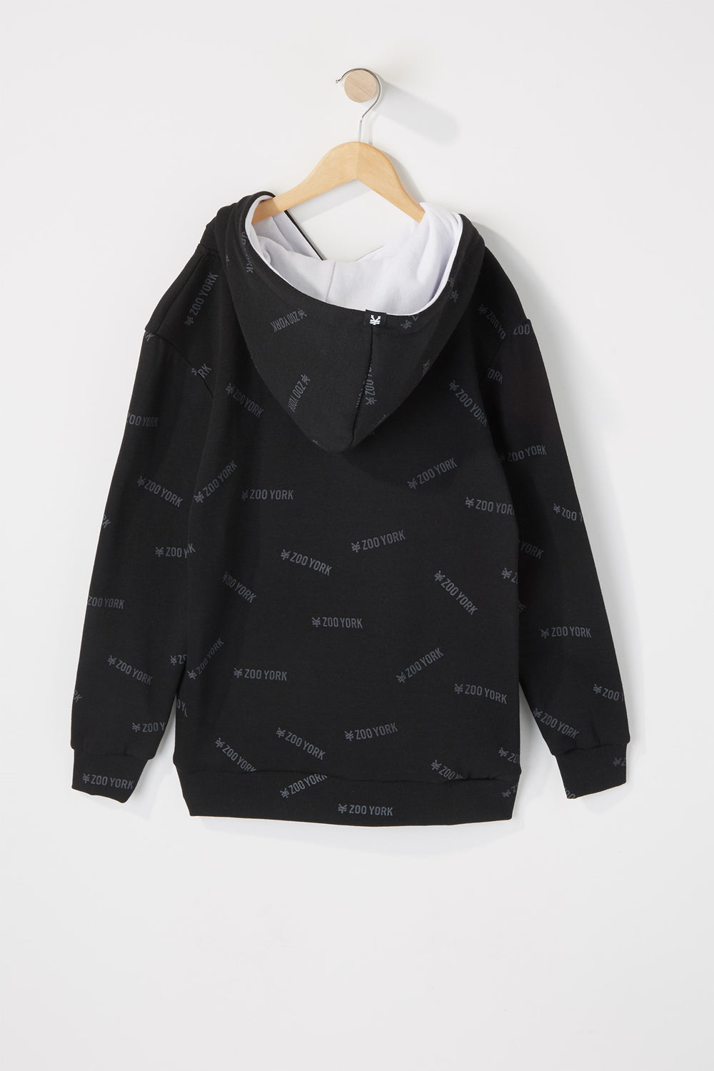 Zoo York Boys Printed Logo Hoodie Black