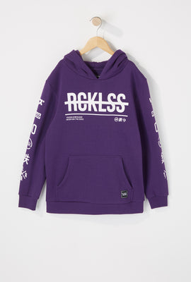 Young & Reckless Boys Strikethrough Logo Hoodie